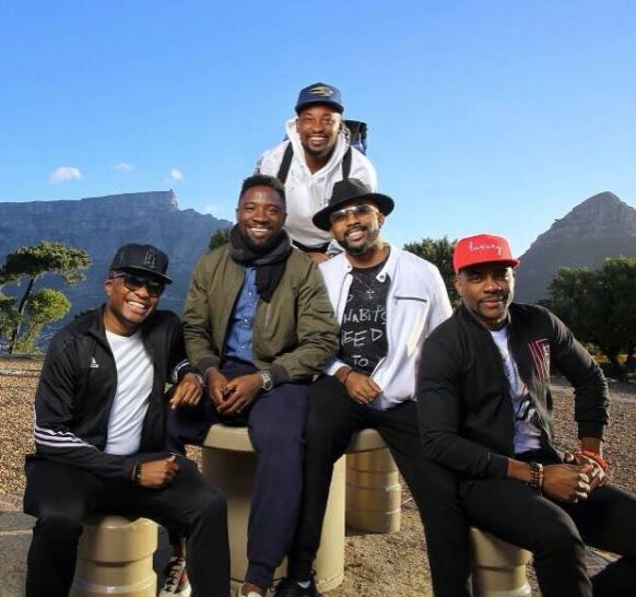 More photos of Banky W and his goons having fun in South Africa ahead of his white wedding?