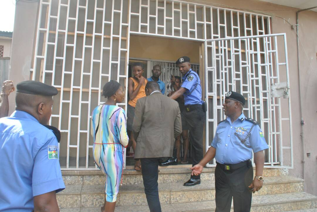 Photos: Lagos commissioner of police, Edgal Imohimi, rescues 13 year old housemaid whose madam locks indoors and travels outside Nigeria for weeks