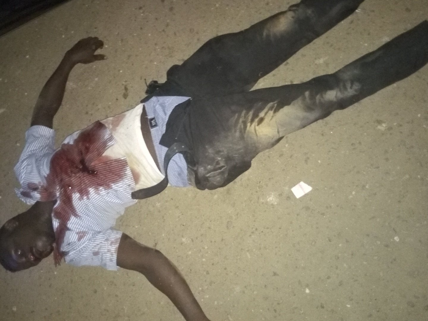 Graphic photos: Drunk police man driving recklessly allegedly kills young man at Gbagada bus-stop, has since been arrested