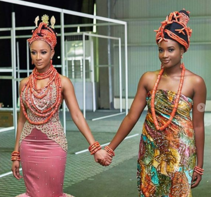 Edo traditions: Adesua Etomi pictured with her