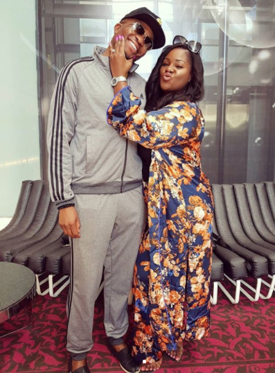 Loved up photos of Toolz and her husband as she arrives South Africa for Banky W and Adesua