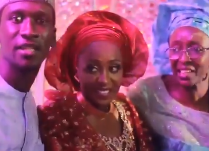 Video from the flamboyant wedding of Bilyaminu Bello to his wife, Maryam who recently stabbed him to death