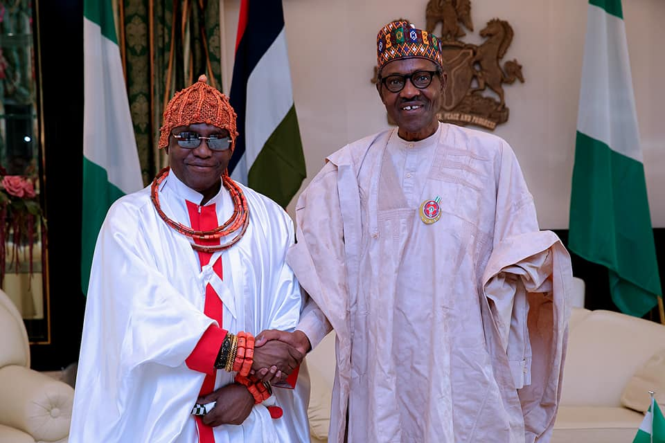 Photos:?President Buhari receives Oba of Benin?Omo N