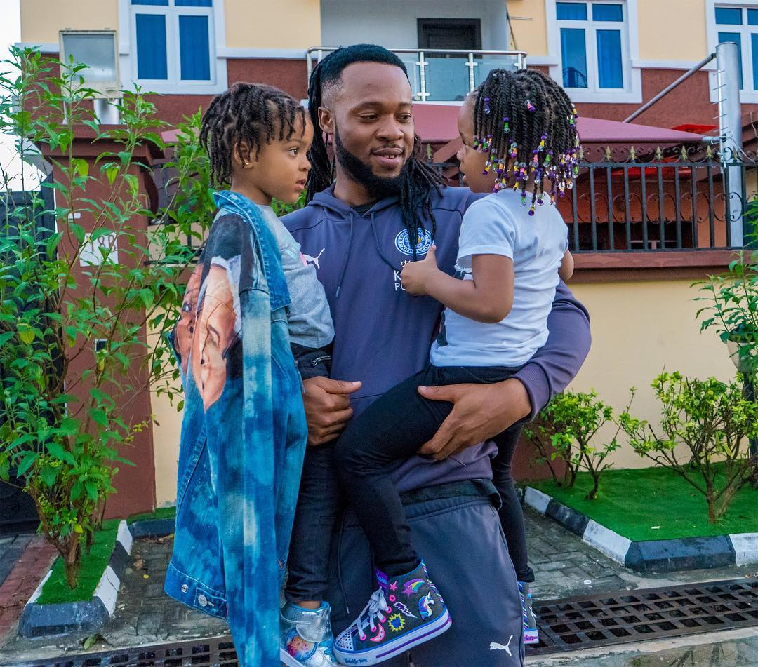 Flavour spends time at home with his