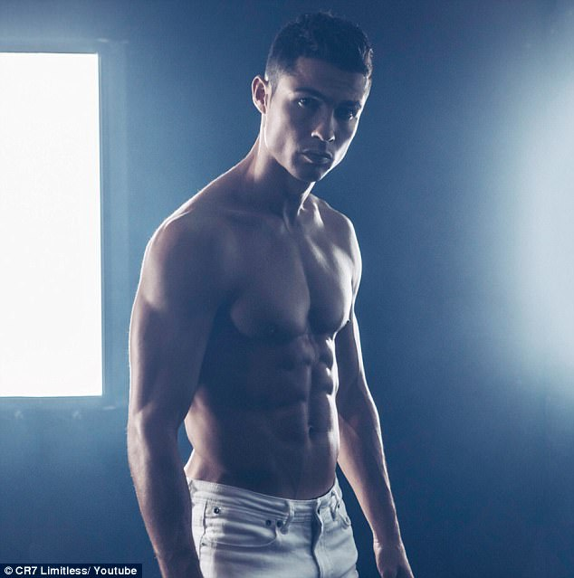 Shirtless Cristiano Ronaldo shows off his jaw-dropping muscular chest and six-pack abs in new photos