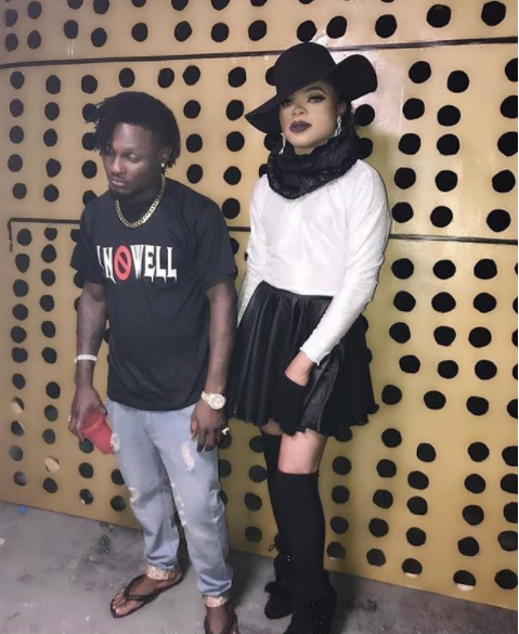 Oshey...baddest! Bobrisky goes full diva! Here is a photo of him rocking a skirt, complete with a hat and high-heeled boots