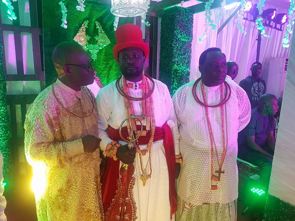 Photos: Billionaire oil magnate, Ayiri Emami installed the Prime Minister, Ologbotsere, of Warri Kingdom