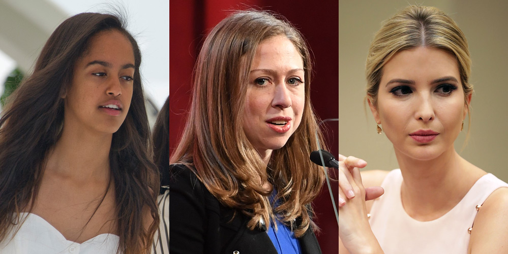 Photos/Video: Ivanka Trump and Chelsea Clinton defend Malia Obama after backlash from making smoke rings