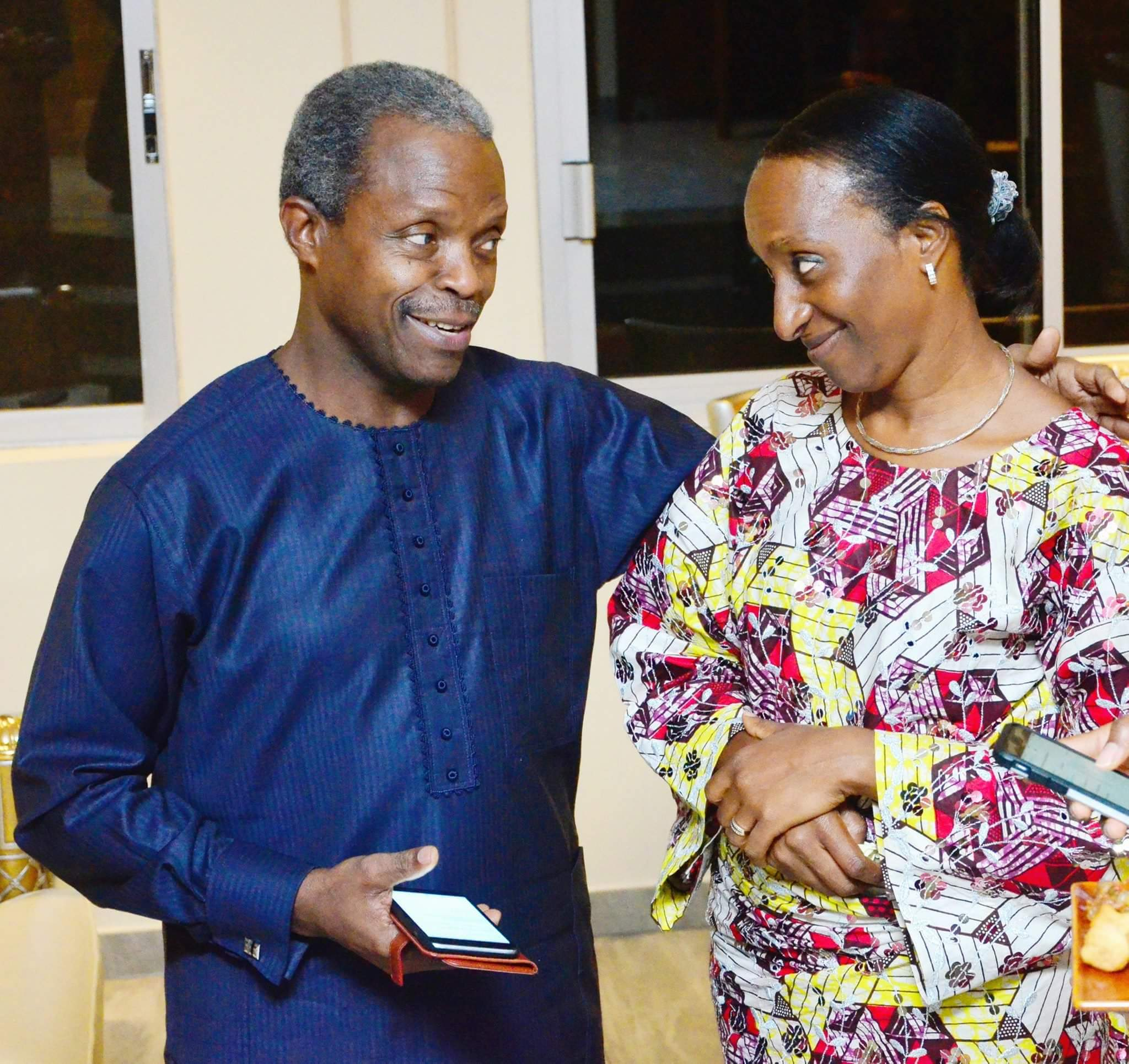 """My treasure, your heart is my home"" VP Yemi Osinbajo tells his wife, Dolapo, as they celebrcelebrate their 28th wedding anniversary"