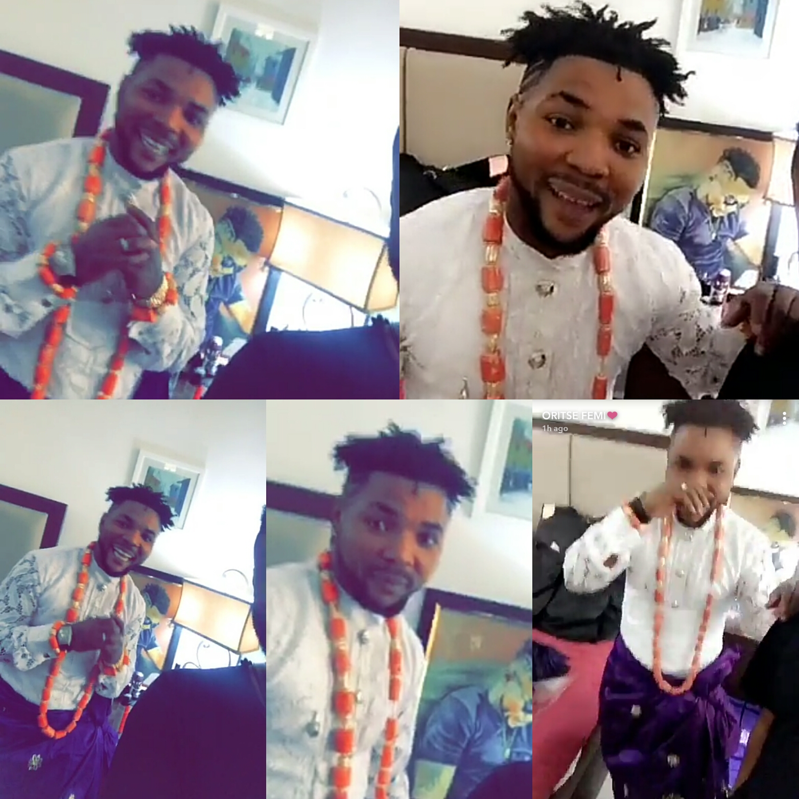 First photos of musician, Oritsefemi on his wedding today