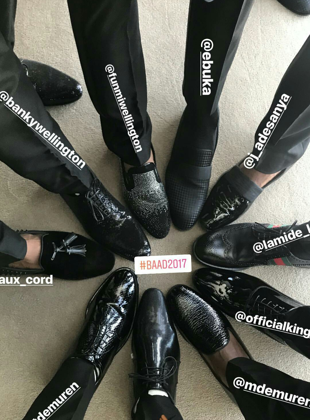 BankyW & his groomsmen tension the internet with their shoe game in Capetown + check out the wedding venue