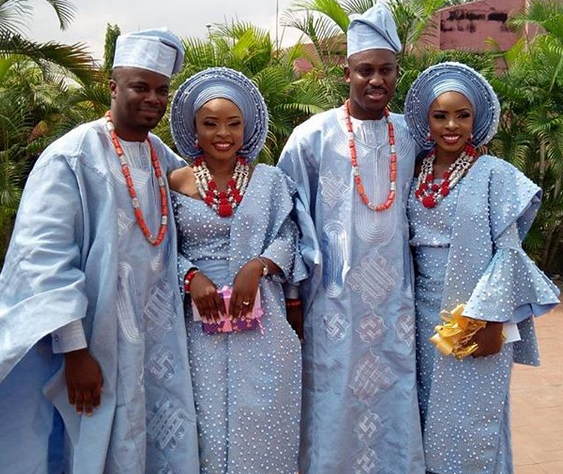 Beautiful photos from the wedding of twin sisters in Lagos