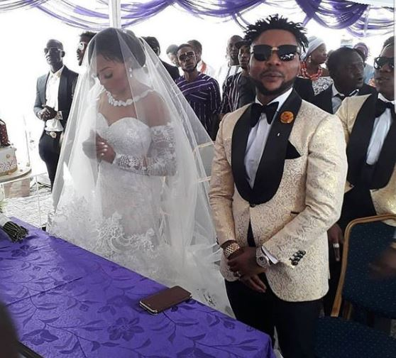 #ON2017: Oritsefemi and Nabila at their white wedding (photos)