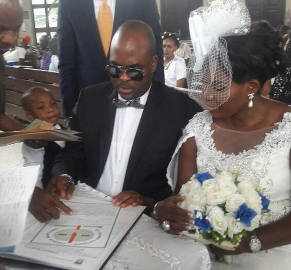 Photos: Actor Emeka Ossai and wife celebrate 10th wedding anniversary, renew their wedding vows
