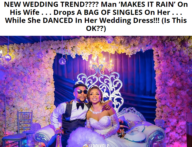 Oritsefemi & Nabila's White Wedding Featured on MTO; The reason, Not too Good