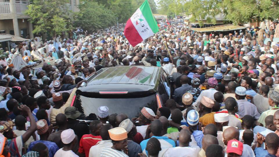 See the crowd that turned out for a PDP event in Jigawa state
