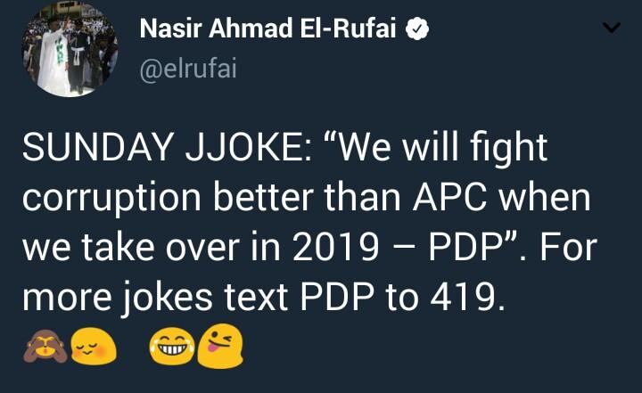 El Rufai mocks PDP
