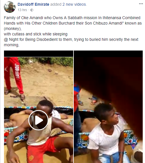 Family murder their sibling in his sleep in Imo state for being disobedient (graphic photo/video)