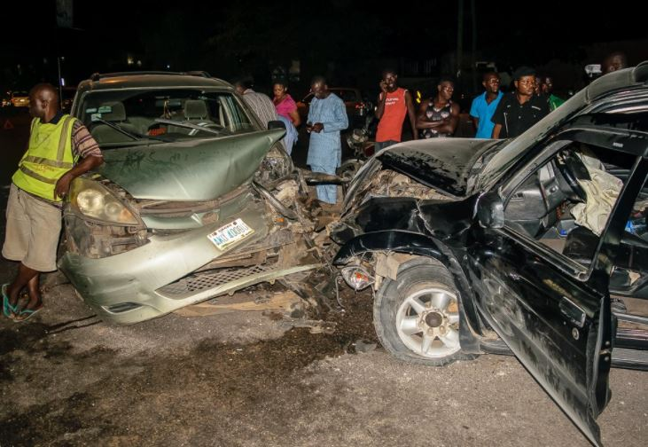 Photos from an accident caused by driving under the influence of Alcohol in Ogba, Lagos