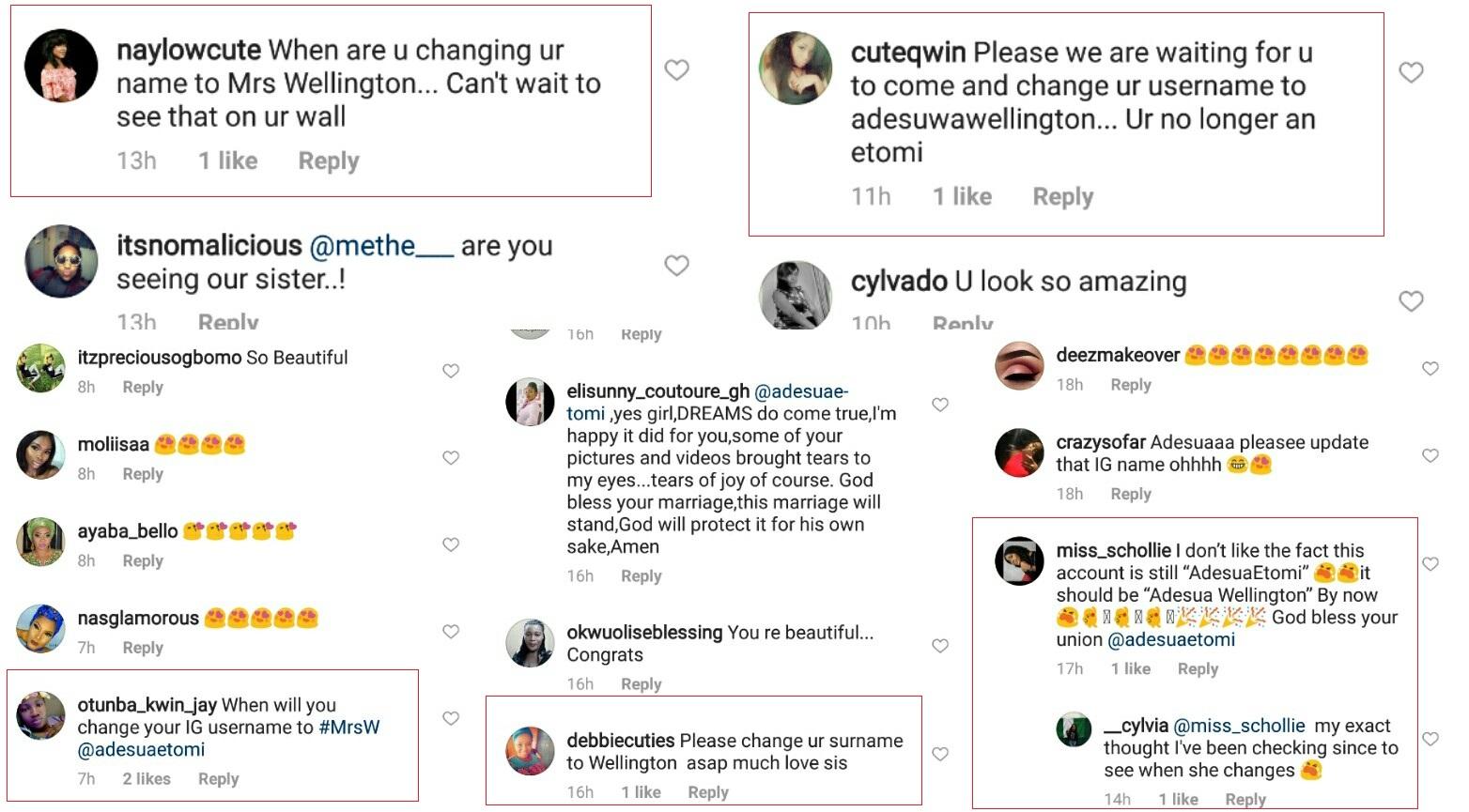 Some aprokos are already asking Adesua Etomi why she hasn