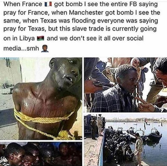 Chris Brown, reacts to the slave trade boom in Libya
