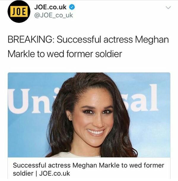 Interesting headline of Prince Harry and Meghan Markle
