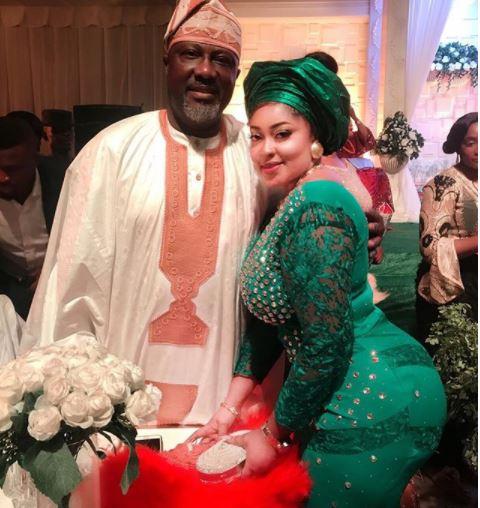 Photo: Senator Dino Melaye spotted with curvy Nollywood actress, Biodun Okeowo