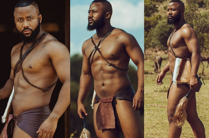 Shirtless Cassper Nyovest shows off his ripped physique and pack abs in new semi-nude photos
