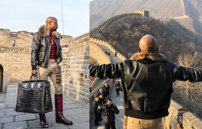 Floyd Mayweather Jr rakes in $3 Million just to vacation with 23 people in China (Photos)