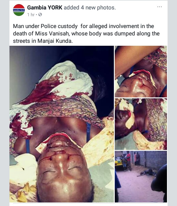 Graphic photos: Young girl beaten, raped, killed and her body dumped on street in Gambia