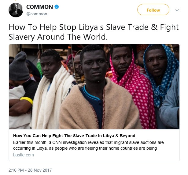 American Celebrities speak out against the slave trade practice going on in Libya