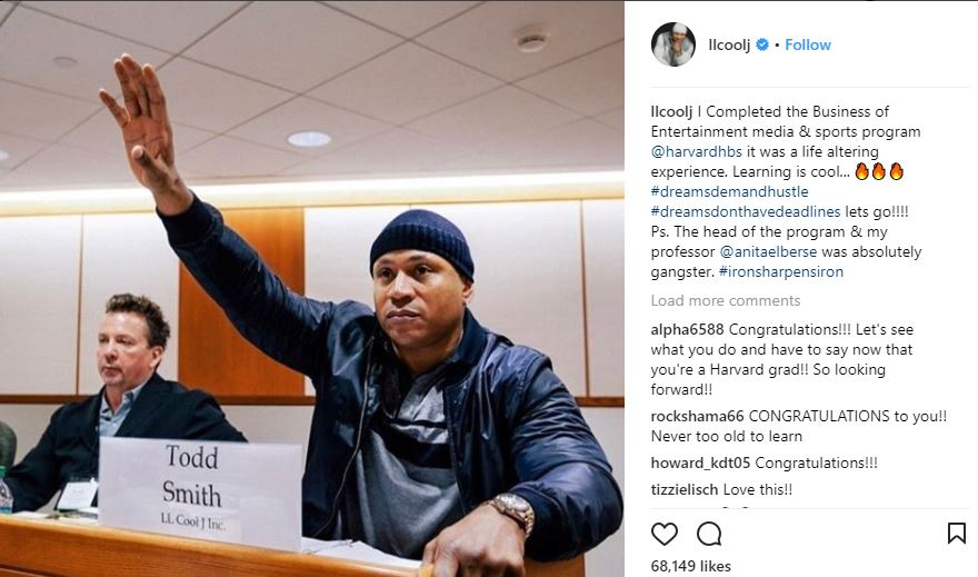 LL Cool J, 49,  graduates from Harvard University