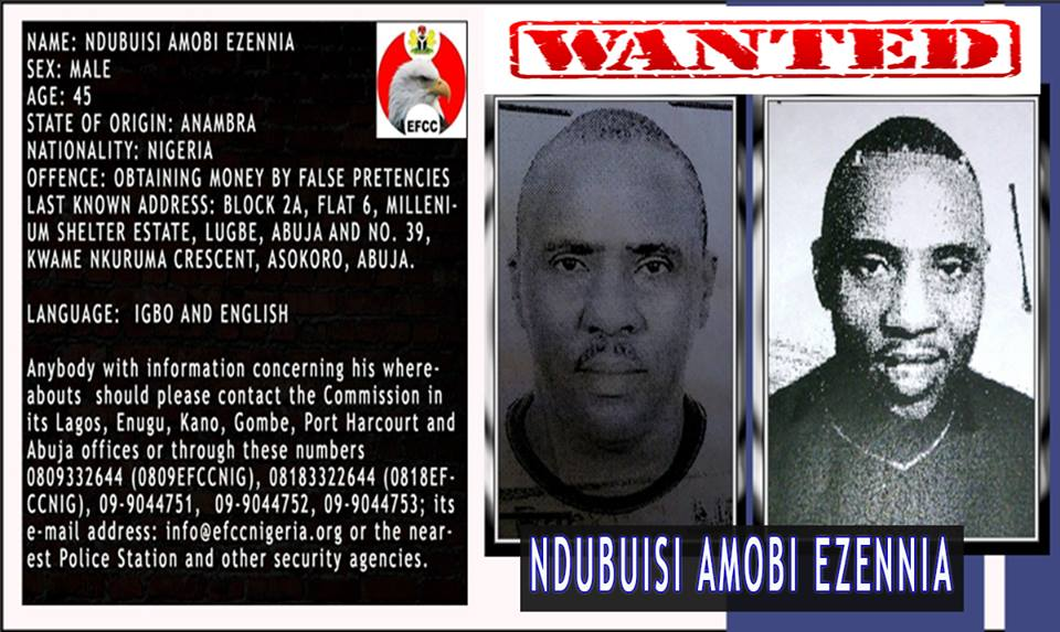 EFCC declares man wanted for fraud