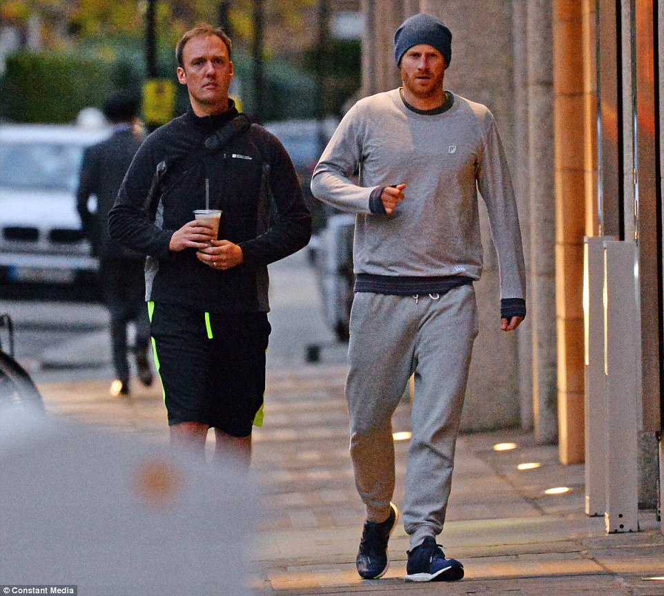 Prince Harry spotted leaving the gym after wedding date is announced (Photos)