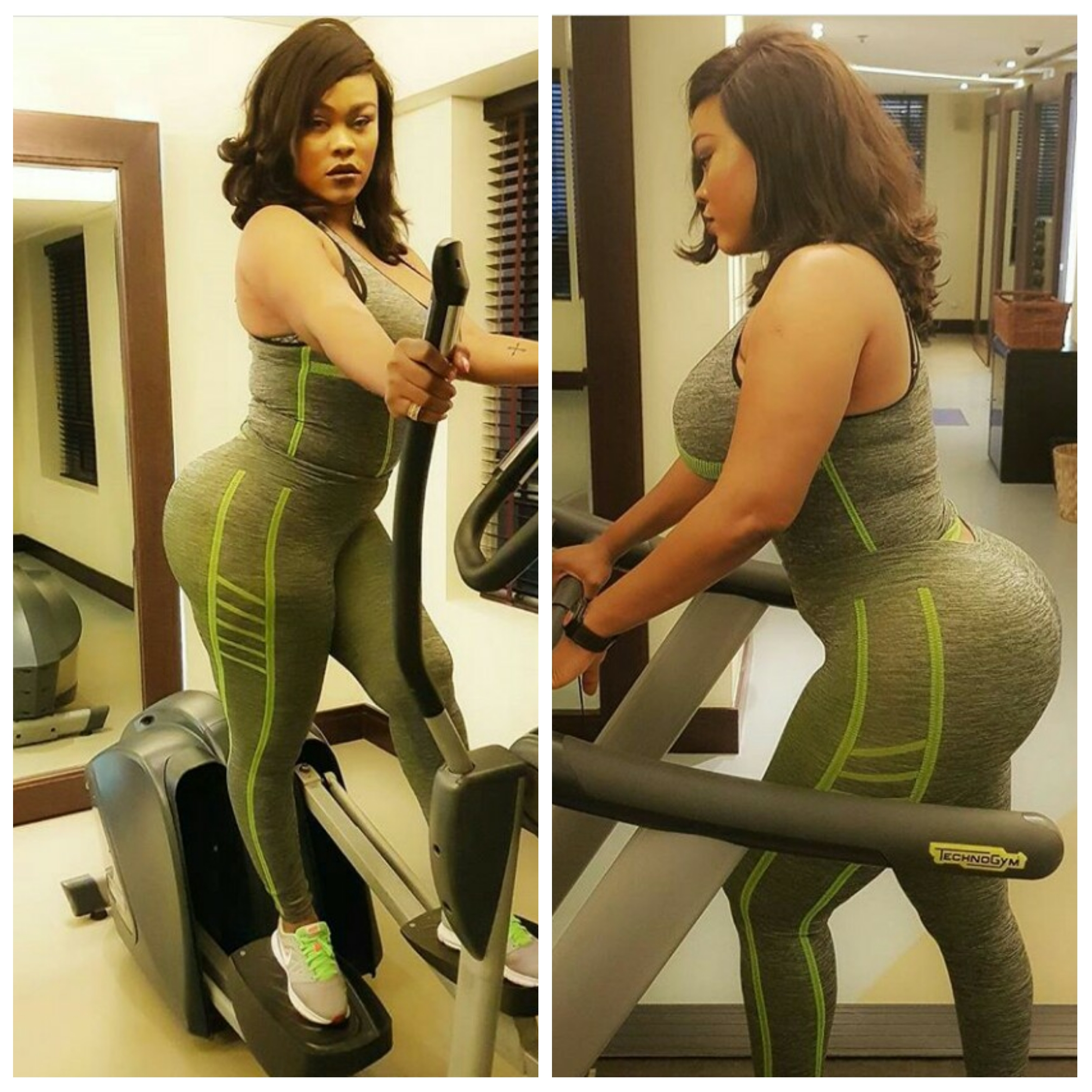 Oge Okoye vs Daniella Okeke: Who rocked the gym wear look?