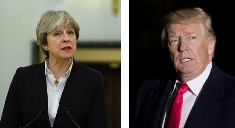 Trump lashes out at British PM after she criticized him for retweeting far-Right videos - but he manages to tweet at the wrong Theresa May