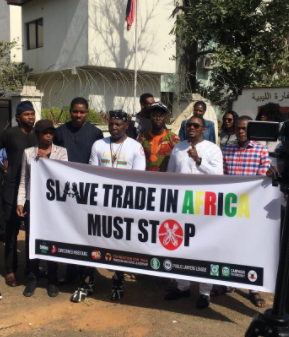 Charly Boy Leads Nigerians In A Protest To The Libyan Embassy