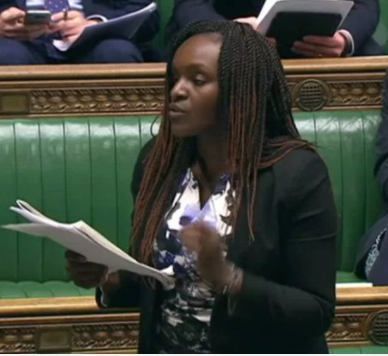 Lol! UK based Nigerian politician Fiona Onasanya quotes Big Shaq