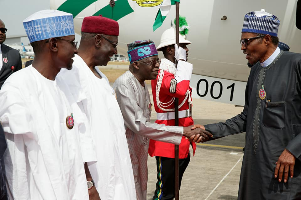Photos:?President Buhari returns to Nigeria after his participation at the 5th AU-EU Summit in Abidjan