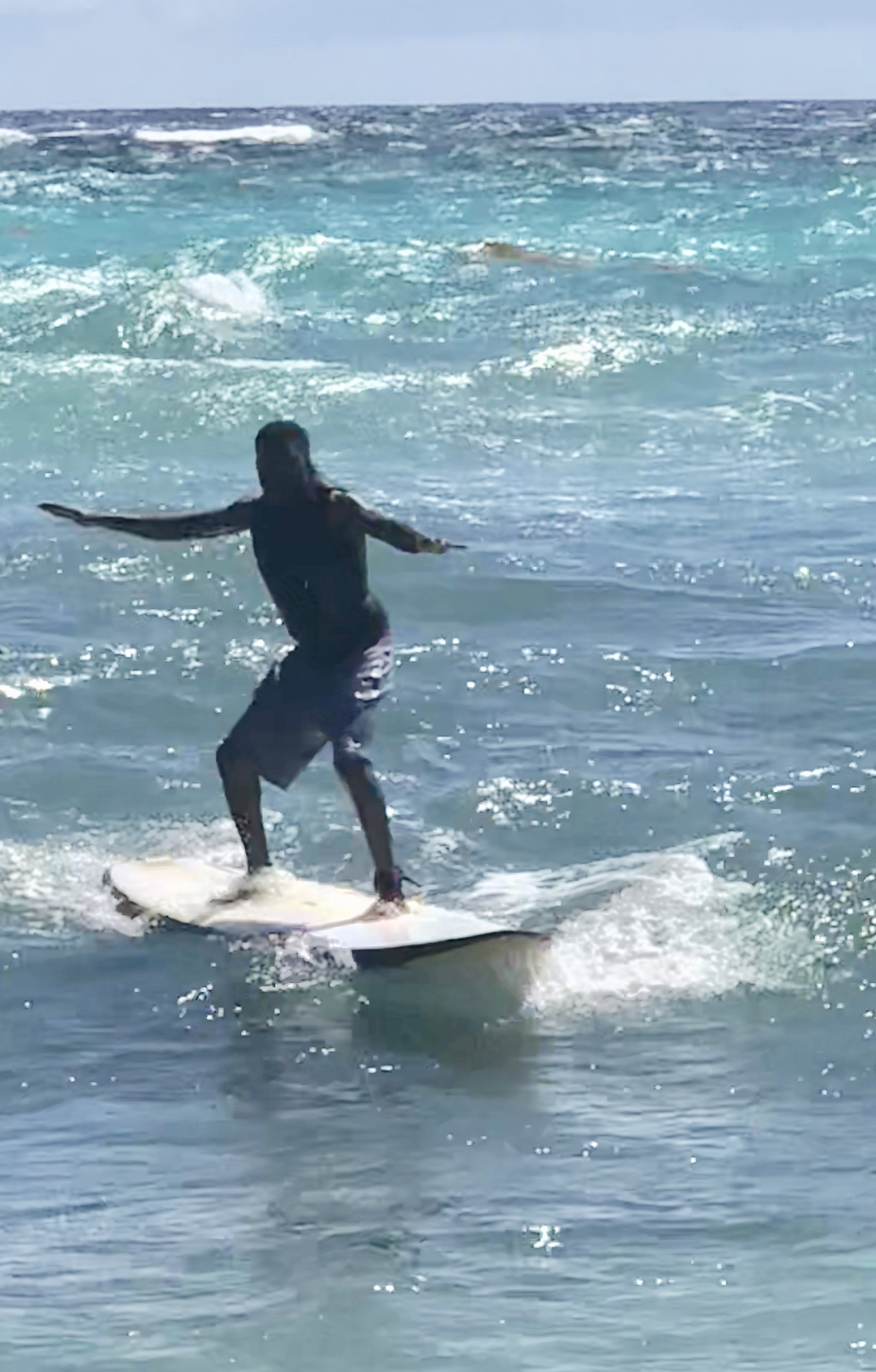 Reno Omokri Surfing in Barbados