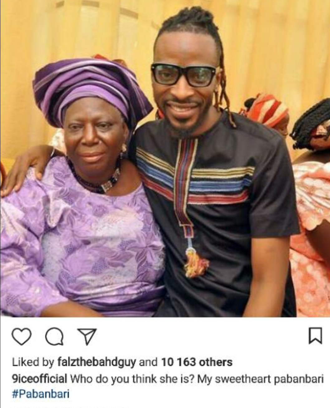 9ice shares beautiful photo with his mum