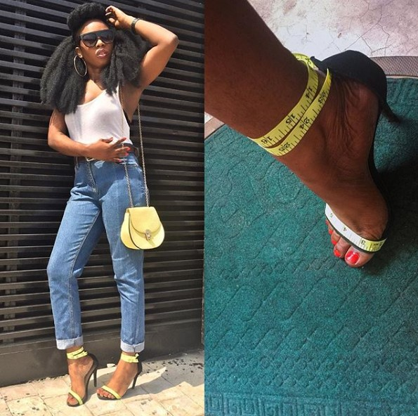 Fashion blogger uses tape rule to style a pair of shoes and the result will surprise you