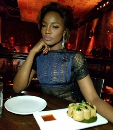 Toolz, Omawunmi left in shock as singer Seyi Shay steps out in sheer dress showing her