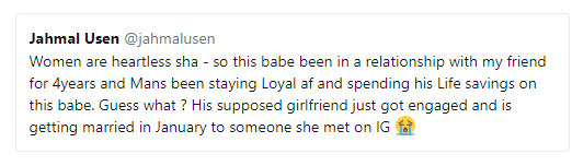 Twitter drama! Lady calls out her boyfriend of 7 months after she found out he is in a 3-year-old relationship with another lady bearing the same as her (photos)
