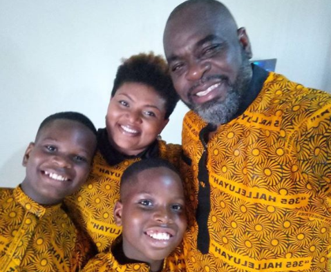 Lovely photo of actor, Funsho Adeolu and his family