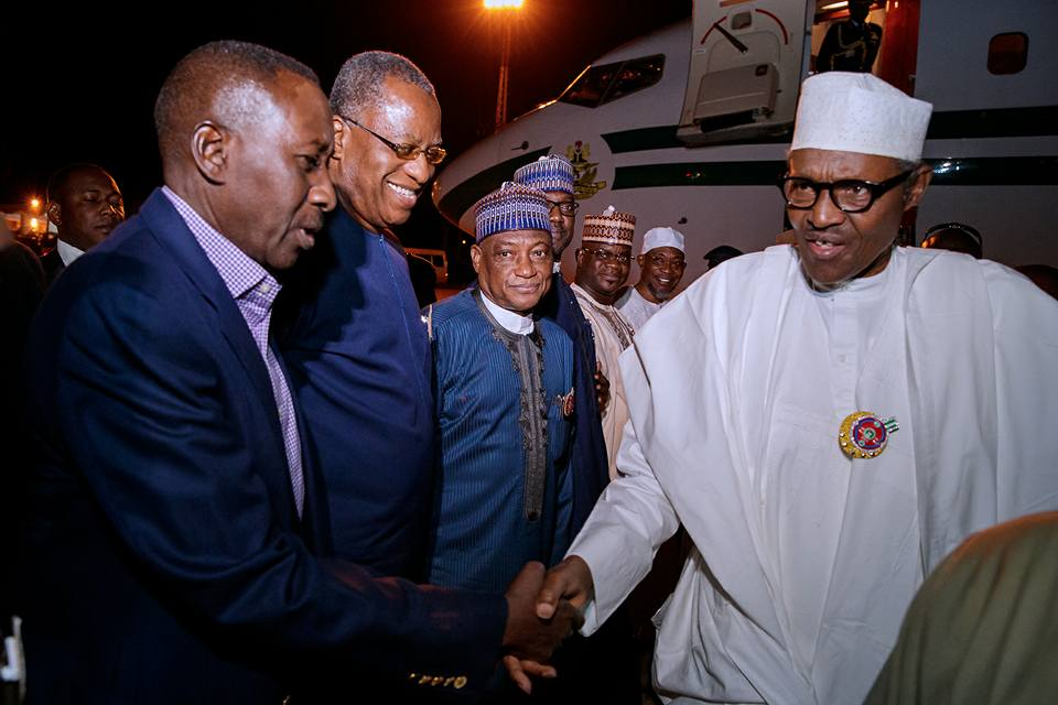 Photos: President Buhari arrives Jordan for Counter Terrorism Summit