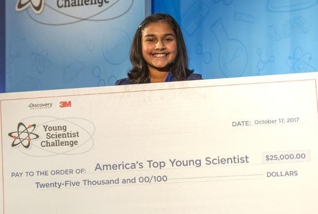 11-year-old girl wins $25,000 science prize for creating a cheap device to test drinking water for poison