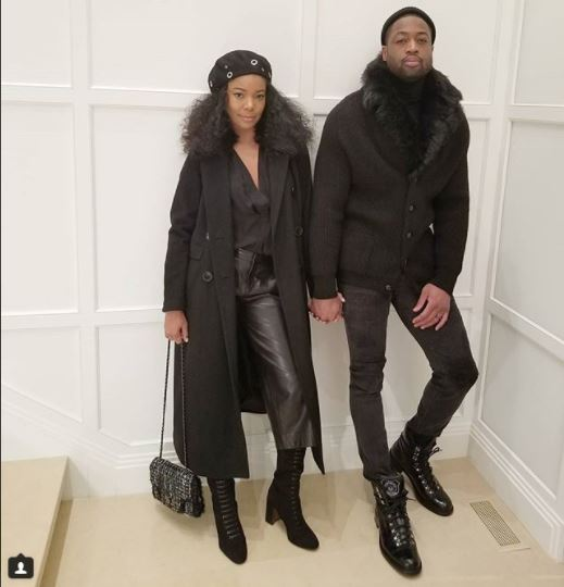 Gabrielle Union and Dwyane Wade rock matching black outfits (photo)