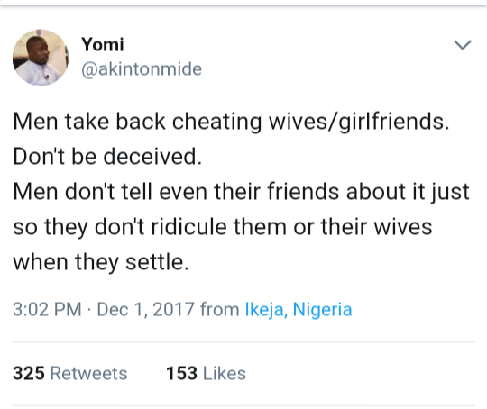 Do men really take back cheating wives? See the touching story this man shared to prove they do