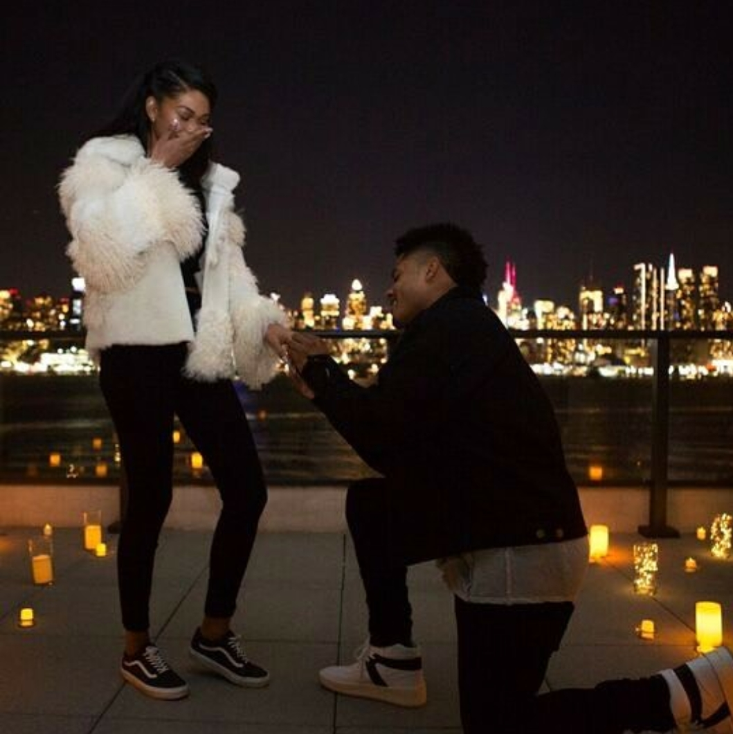 Model Chanel Iman and NFL player Sterling Shepard are engaged